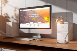 johnny10.com - Solar Fresh strona internetowa - prezentacja na iMac